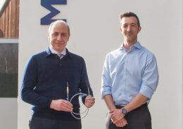 Mr Andrew Hindmarsh, left, with Robert Donald from Medovate