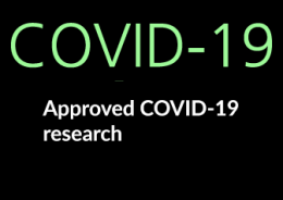 Graphic for approved COVID-19 research